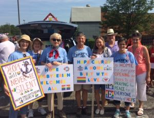 Hopers join our PFLAG friends in the 4th of July parade.