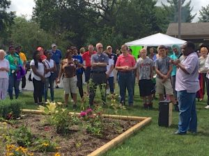 Great times with great friends!  Over 200 people from six different congregations joined together to celebrate our relationships! Gathering here to dedicate Hope's Monarch Butterfly Garden.