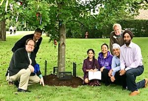 Our Peace Tree, with Hope's Sikh friends.