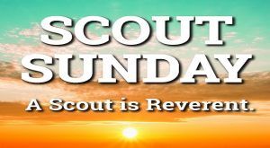 Scout Sunday, February 2.  Troop 303 will participate in Hope's worship service.