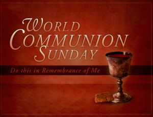 World Communion Sunday, October 6. Hope and Bethel New Life worship together. SERVICE BEGINS AT 11AM.